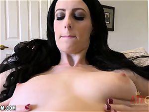 Alex Harper massages her delicious cootchie and pops rigid