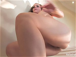 jaw-dropping adult movie star Natasha drains on the stairway
