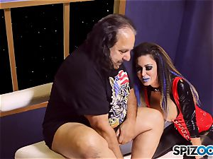 Jessica Jaymes is creamed by mature fellow