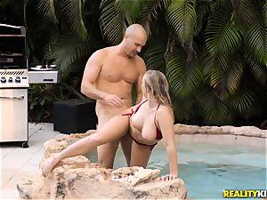 Bailey Brooke outdoor pool shaft sucker