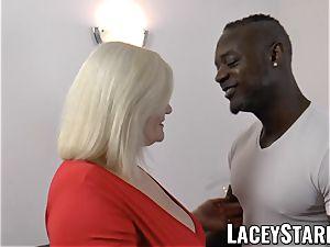 LACEYSTARR - grannie rectally creampied with big black cock