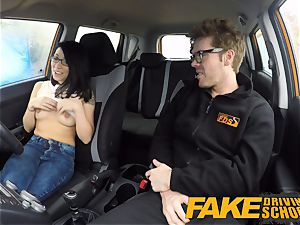 faux Driving college half japanese tiny student pounds