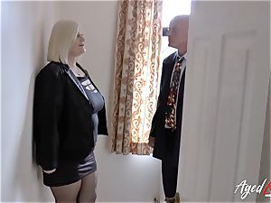 AgedLovE Lacey Starr pounded rigid with Sales Agent