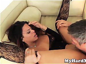 wild Latina Luna starlet pussyfucked