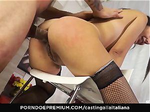 casting ALLA ITALIANA - Italian mummy rookie loves buttfuck