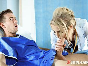 Nurse Georgie Lyall slurps up patients monster meatpipe