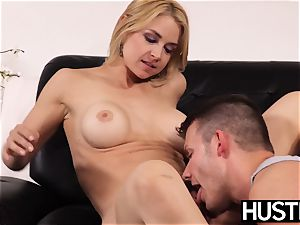 tempting mummy Sarah Vandella drilled with hard-on after blowjob