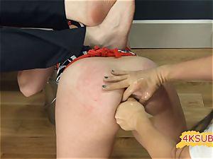 juicy honey trying ass-fuck bondage & discipline