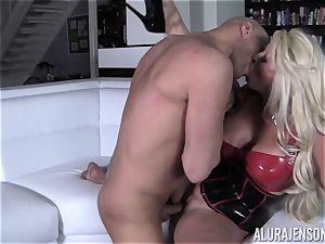 kinky Alura Jenson displays her husband a new side of her