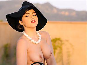 passionate honey Valentina Nappi looks impressive as she plays