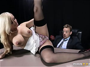 filthy manager is given a screwable buttfuck desire by Britney Amber