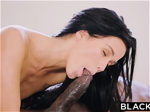 BLACKED super hot Megan Rain Gets DP'd By Her Sugar father and His mate