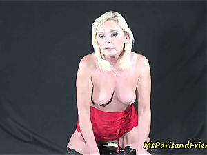 Motorbunny practices with Ms Paris Rose
