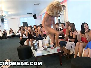 CFNM hotel soiree with big knob male Strippers
