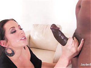 big-titted babe Jayden takes a massive dark-hued schlong from Mr Marcus