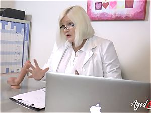 AgedLovE Lacey Starr plumbing hard with Soldier