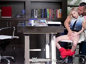 PASSION-HD blonde Piper Perri drills her fat boner professor