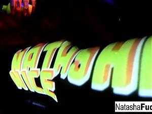 huge-boobed Natasha Shoots A fun And handsome ebony Light movie