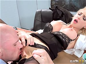 gorgeous office honey Alix Lynx takes a second helping