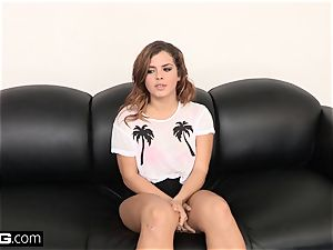 tear up audition Keisha Grey Has Her first-ever rough ass fucking drill
