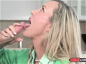 Mature stunner Brandi enjoy with ample bosoms instructs youthfull sister and brutha