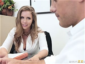 Office plow with buxom boss Lena Paul