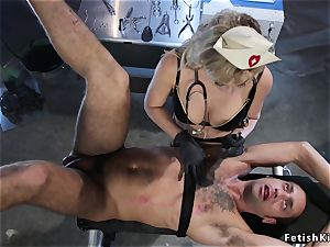 fat trunk male taked female domination from nurse