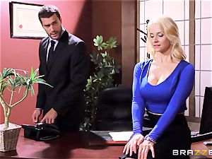 Sarah Vandella caught being insatiable in the office
