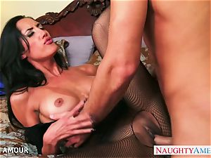 dark-haired honey Chloe Amour blow and nail