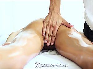 luxurious Latina Chloe Amour cums stiff after massage