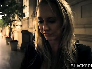 BLACKEDRAW Out Of Town gf Cheats With big black cock After struggling With bf
