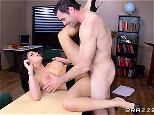 Romi Rain choking on a hard weenie