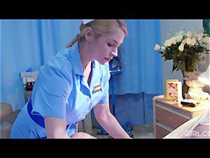 GIRLCORE lezzie Nurses Give teenager Patient Vaginal examination