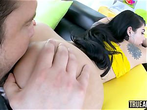 TRUE anal Gina Valentina has her brazilian culo pounded