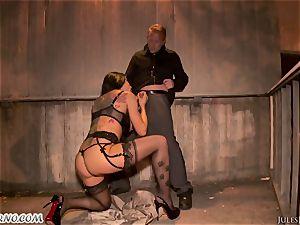 Romi Rain - astounding super-hot unexperienced porno in the street