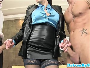 big-chested european whore Aletta Ocean analized in 3