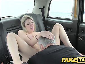 fake taxi supah red-hot blonde with a superb assets loves manmeat