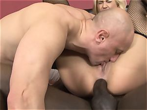 blond bi-racial anal invasion pummeled tonguing spunk labia plumb