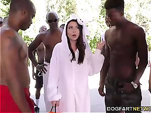 Melissa Moore inhales several black dicks at once