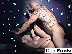 Dani has a super-hot ebony light 3 way
