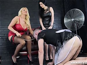 mistress Lucy Zara Lilly Roma crop abase sissy maid