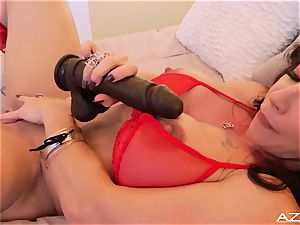 fitness mummy milf climaxes WITH large dark-hued fuck stick