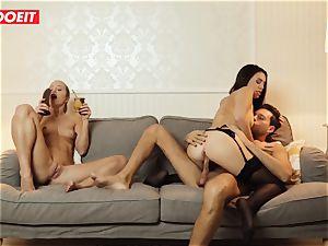 LETSDOEIT - insatiable wifey Gets smashed xxx By Swingers