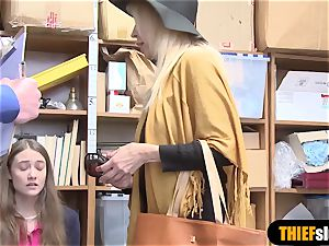 2 teen shoplifter female got caught stealing lingerie