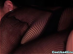 incredible Adrianna Luna and Chloe Amour make out after threeway