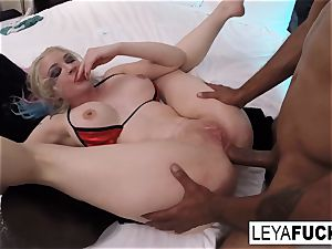 gonzo anal invasion interracial drilling with Leya Falcon