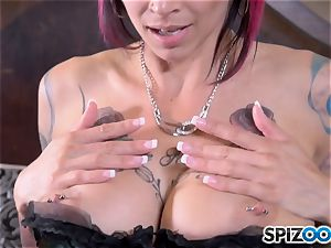 Solo vagina messing pretty inked Anna Bell Peaks