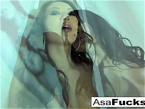 cool Asa Akira Plays With Her wet cooch