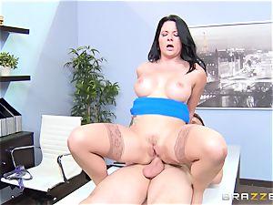 sloppy office female Casey Cumz plows on her desk